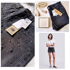 Bling Bling Black Embellished Wedgie Short Levi's